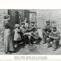 Photograph of German soldiers being quartered in French homes