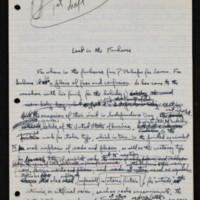 "Manuscript of ""Lost in the Funhouse"""