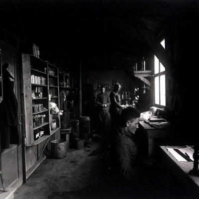 Bacteriology laboratory in an AEF training camp