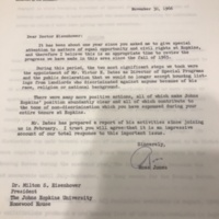 Jones to Eisenhower Letter