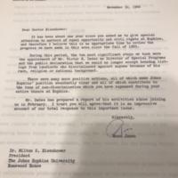 Jones to Eisenhower Letter