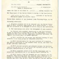 Student Army Training Corps Request for Assignment Memo