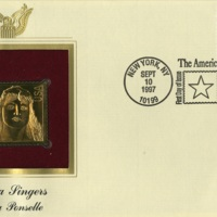 First day cover gold replica of Rosa Ponselle Stamp