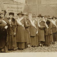 Some of the picket line of Nov. 10, 1917
