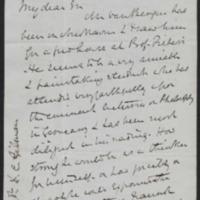 Letter from Noah Porter to Daniel Coit Gilman