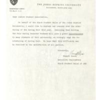 BSU letter regarding Spring Fair on Passover