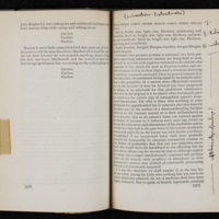 Page from Ulysses, with John Barth's notes