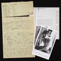 Notes, introduction, photograph for Anne Tyler reading at Johns Hopkins University