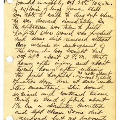 Excerpts from William Fisher's World War I diary