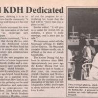 Renovated KDH dedicated