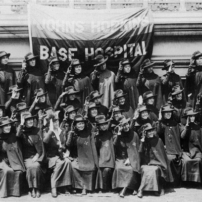 Group Portrait of Johns Hopkins nurses, Johns Hopkins Base Hospital No. 18.