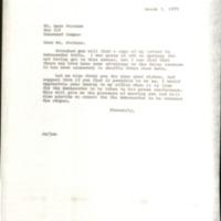 Correspondence on Yitzhak Rabin's Visit