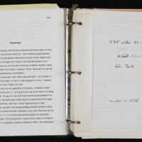 "Manuscript of ""The New Science"" (unfinished novel)"
