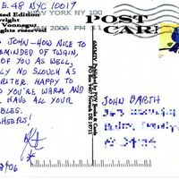 Postcard to John Barth (back)