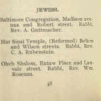 Baltimore Jewish Institutions