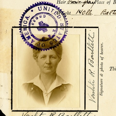 Vashti Bartlett, American Red Cross identification card for Siberia