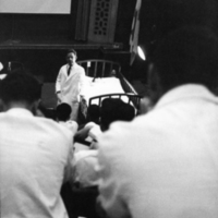 Alfred Blalock lecturing, circa 1950s
