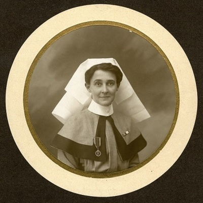 Oval portrait photograph of Alice Fitzgerald, 1916