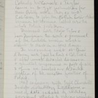 Isaiah Bowman diary excerpt