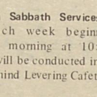 "<a href=""http://exhibits.library.jhu.edu/exhibits/show/jews-at-hopkins/glossary"" target=""_blank"">Shabbat</a> morning services"