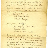 Letter from soldier Malcolm W. Vaughan to Elisabeth Gilman