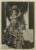 Rosa Ponselle as title role in Bizet's Carmen with tambourine