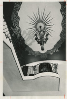 Photograph of Villa Pace foyer ceiling in 1982