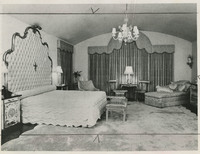 Photograph of Villa Pace master bedroom, 1982