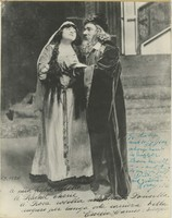 Photograph of Rosa Ponselle and Enrico Caruso in La Juive with inscription from Caruso