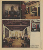 """""""Risen from the Ashes"""" article by Marie Forbes includes color photo spread of Villa Pace when it opens as a museum, 1982"""