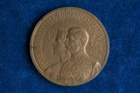 Coronation Medal of Ferdinand I of Romania, presented to Katherine Olmsted by Queen Marie
