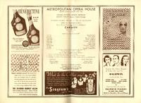 Program for Rosa Ponselle as Carmen at the Metropolitan Opera, 1936
