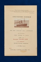 Dance card and menu from the Johns Hopkins Unit's transatlantic voyage aboard the U.S.S. Finland
