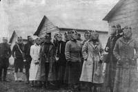 Johns Hopkins Hospital Nurses in World War I, wearing gas masks, 1918