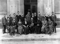 Alice Fitzgerald with members of the League of Red Cross Societies in France