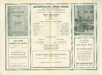Program for Rosa Ponselle as Donna Anna in Don Giovanni at the Metropolitan Opera, 1935.