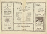 Program for Rosa Ponselle's debut at the Metropolitan Opera House in La Forza del Destino, 1918