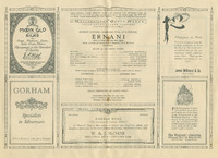 Program for Rosa Ponselle as Elvira in Ernani at the Metropolitan Opera, 1922
