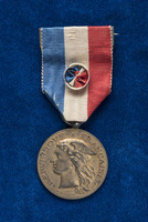 Alice Fitzgerald's French Ministere de la Guerre Devovement Epidemies medal