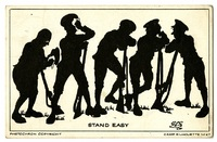 """Stand Easy"" postcard"