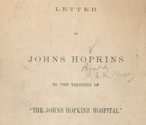 crop of front page of a letter